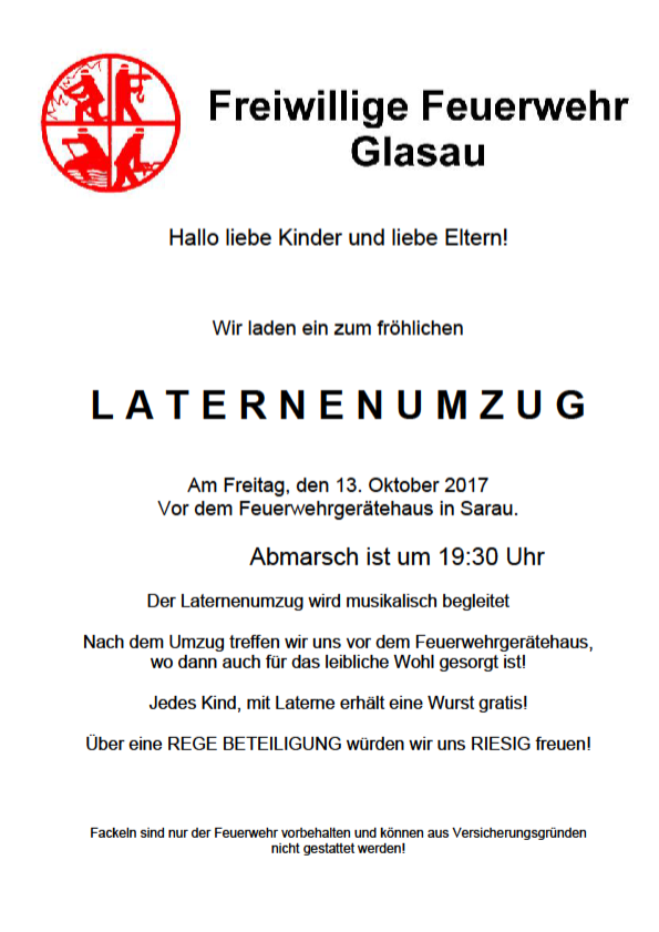 Laternenumzug 2017